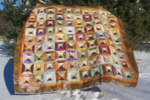 Mosaic Tiles quilt by Sewfrench