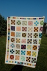 Nine Patch quilt by Sewfrench