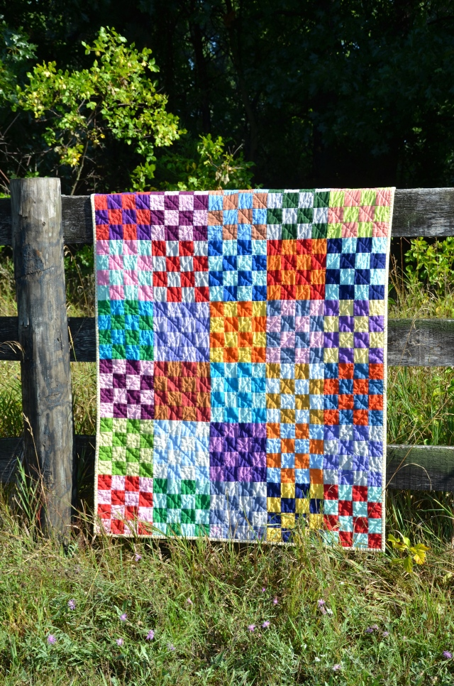 Checkerboard St. Louis 16  Kona quilt by Sewfrench