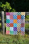 Checkerboard Kona quilt by Sewfrench