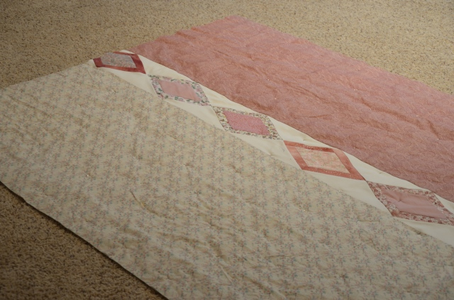 Jane Austen quilt back by Sewfrench