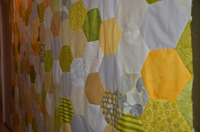Malka Dubrawsky honeycomb quilt