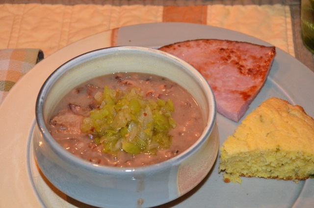 Blackeyed peas with chow chow