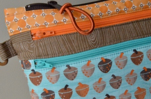 Triple zipper bag
