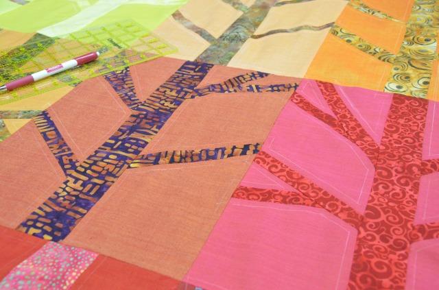 Marking a quilt