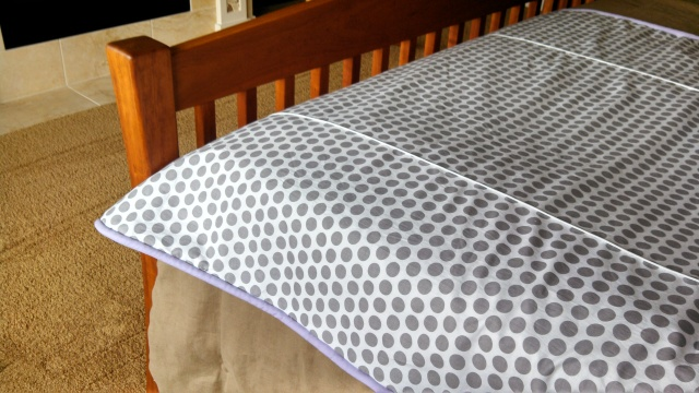 Riley Blake white with gray dots fabric