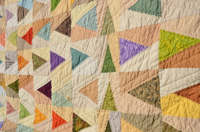 Leave a Trail quilt by Sewfrench