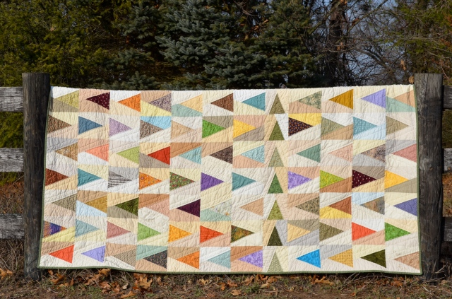 Leave a Trail quilt - Sewfrench