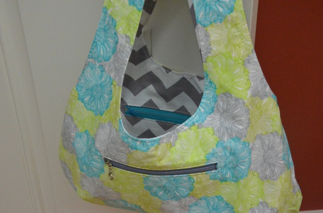 Reversible double zippered bag