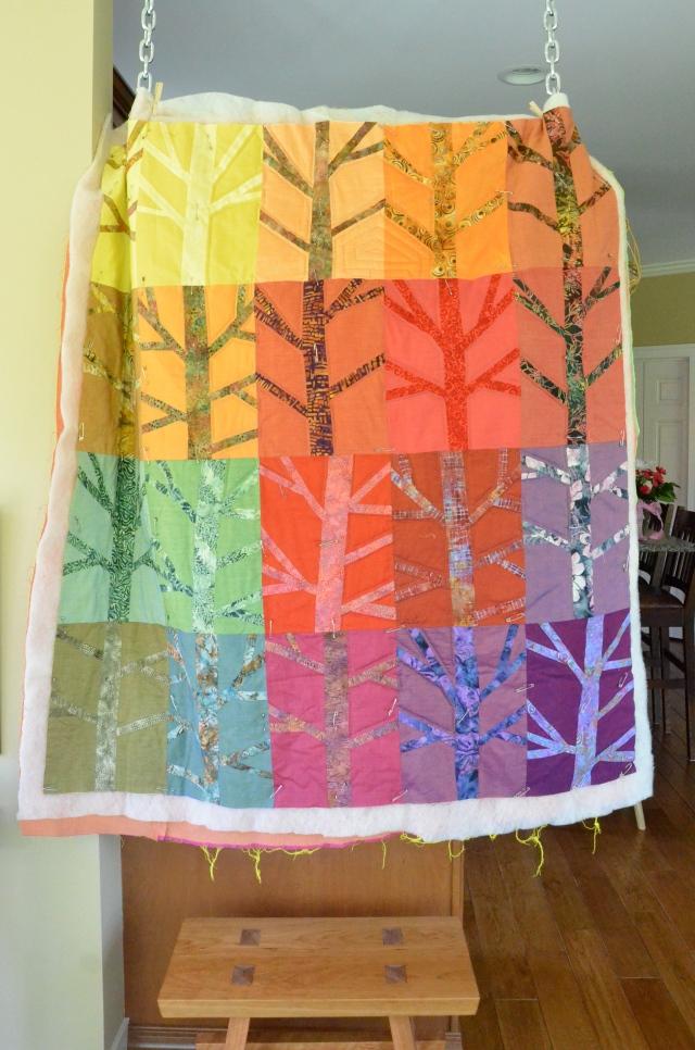 Oakshott batik tree quilt