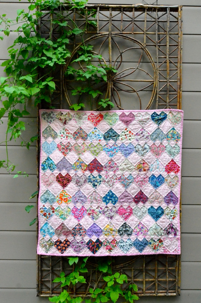 Head Over Heels in Love quilt