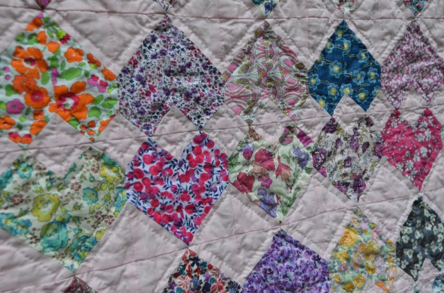 Head Over Heels in Love charm quilt by Sewfrench
