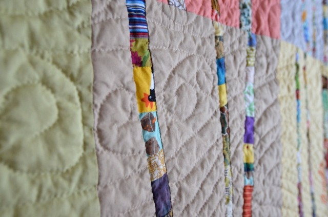 hand quilted tree quilt