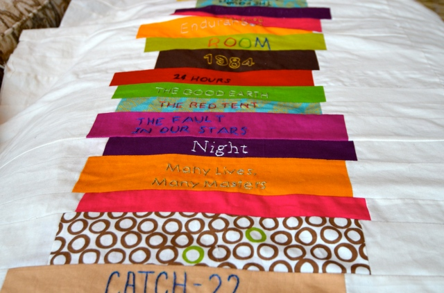 Books quilt @ Sewfrench