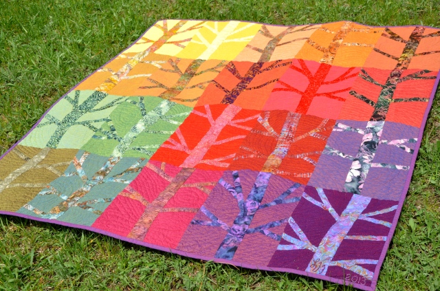 """Blowin' In the Wind"" quilt by Sewfrench using Oakshott fabrics"