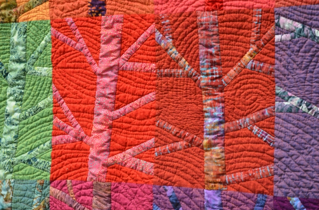 """Blowin' In the Wind"" hand quilted by Sewfrench"