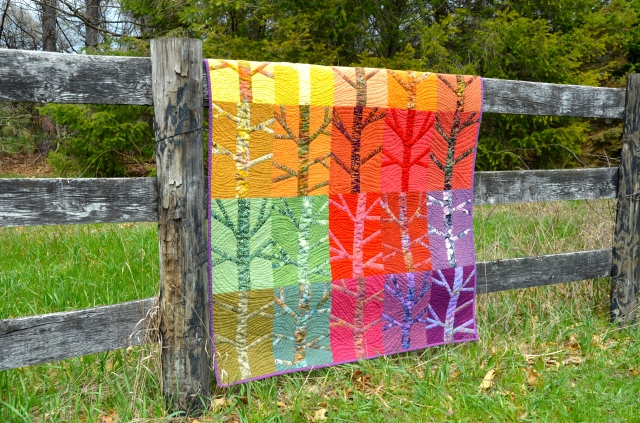 """Blowin' In the Wind"" quilt by Sewfrench w/Oakshott fabrics"