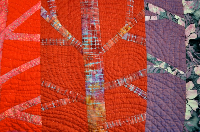Blowin' In The Wind hand quilted by Sewfrench