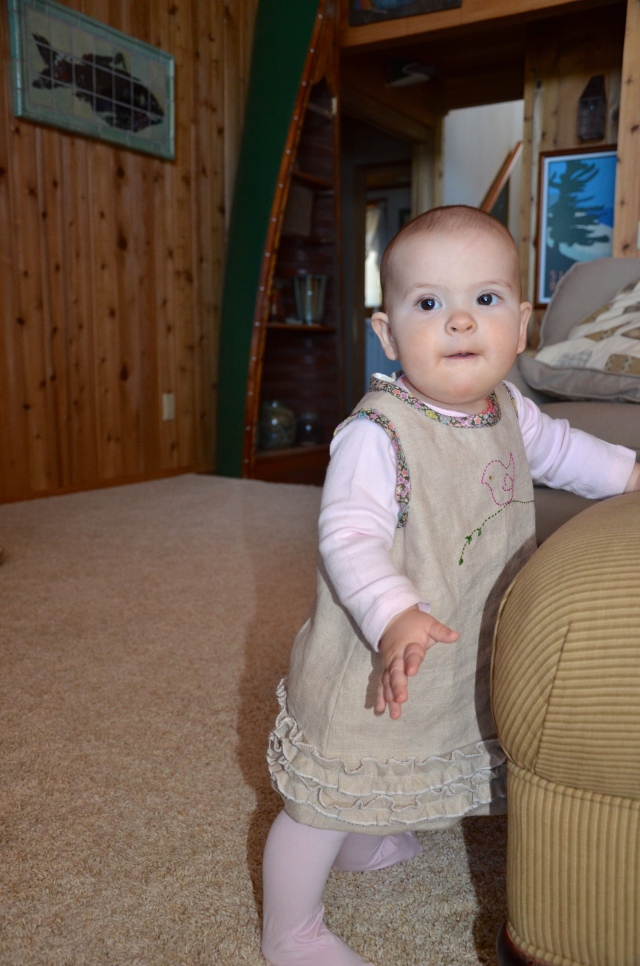 Linen baby dress