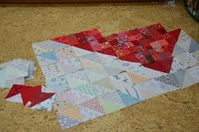 Sewfrench Low Volume Heart quilt