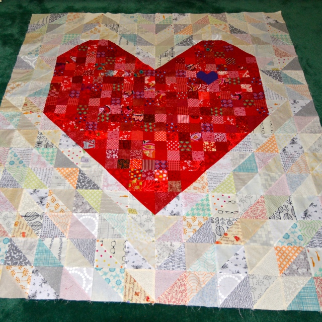 Always in My Heart quilt by Sewfernch
