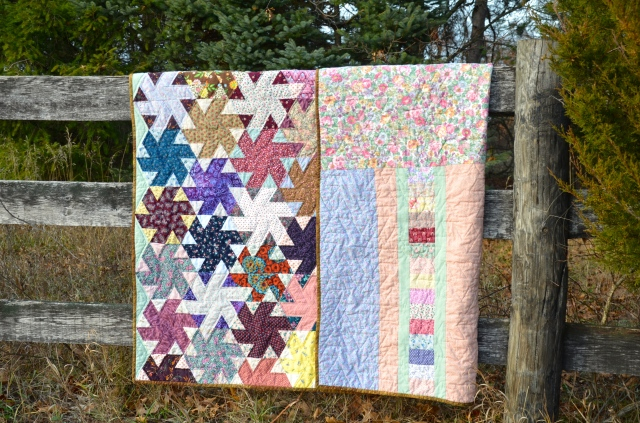 Pinwheel quilt by Sewfrench