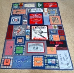 Memories quilt by Sewfrench