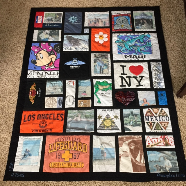Amanda's Trips quilt by Sewfrench