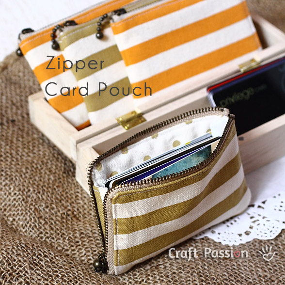 Zippered Card Pouch