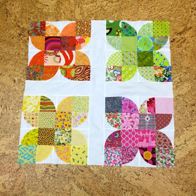 Flowers Garden quilt at Sewfrench