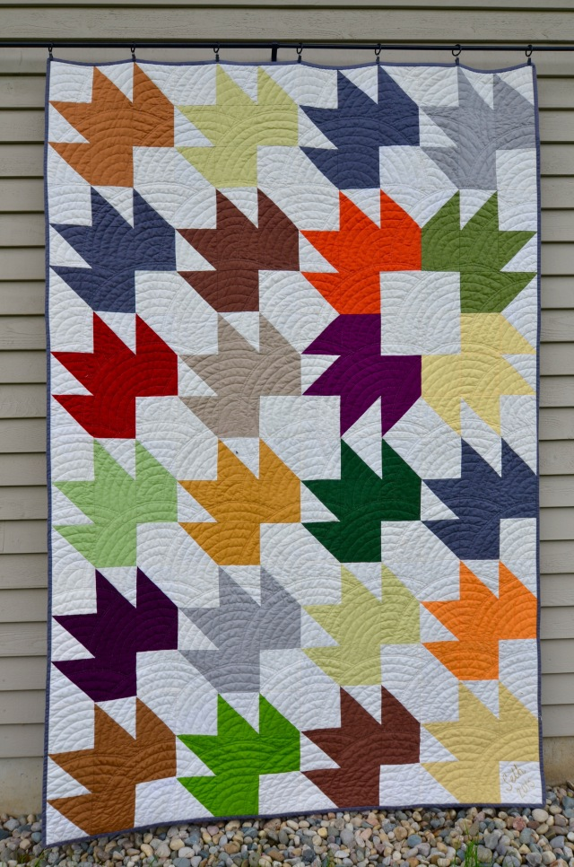 Maple Leaf quilt by Sewfrench