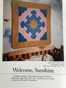 Welcome Sunshine quilt @ Sewfrench