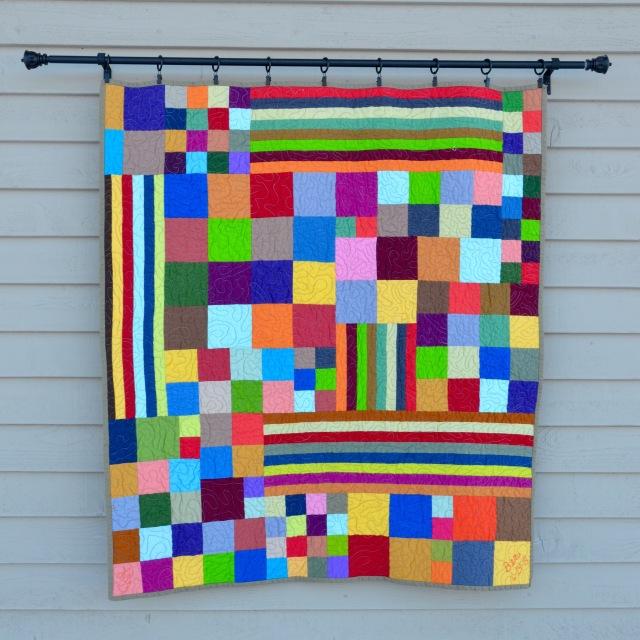 Color Explosion quilt