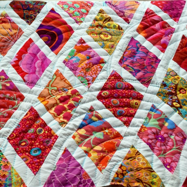 Garden Party quilt @ Sewfrench
