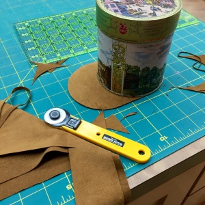 DIY elbow patch template