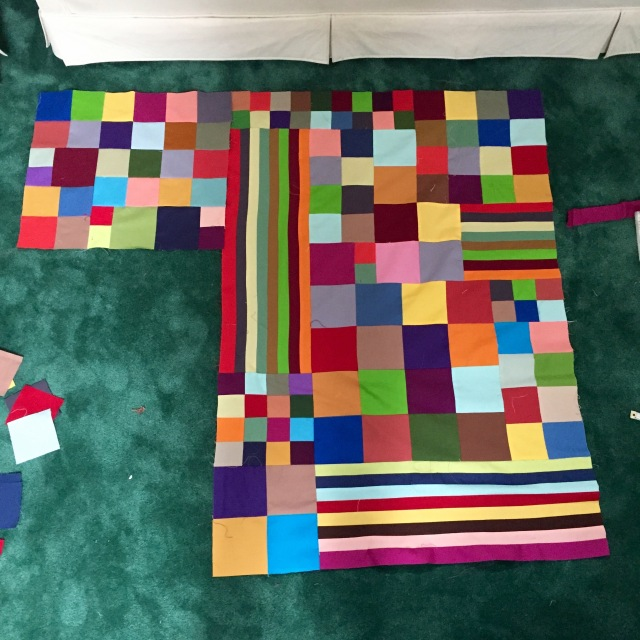 Color explosion quilt @ Sewfrench